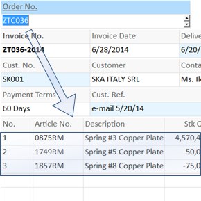 it is a very handy spreadsheet feature, a single formula can fill in data in multiple rows.