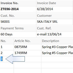 just like using a spreadsheet, default value depends on the upper row values.
