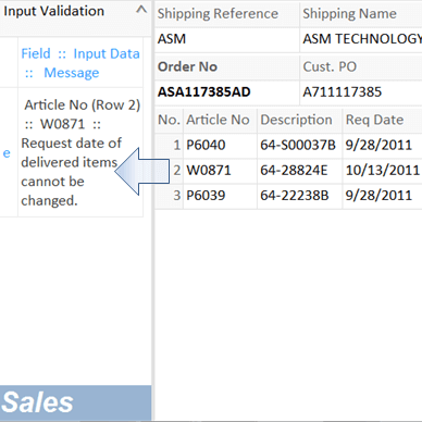 an use case of rapid application development: when entering order qty, check if enough stock quantity.