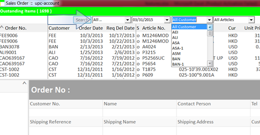 just like using a spreadsheet, filter box is a handy tool for viewing data.