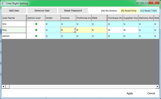 another useful database feature: built-in feature to control access of various users.
