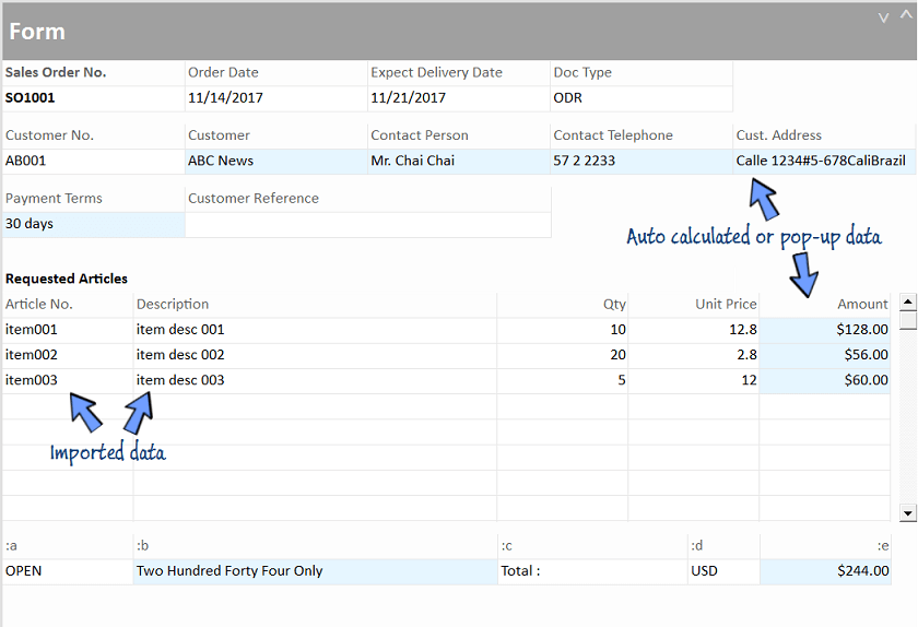 Formulas auto-triggered after import of entry data.
