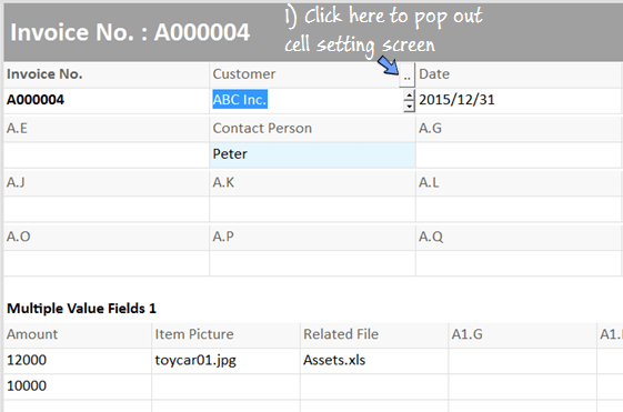 add formula to display list of customer for selection.