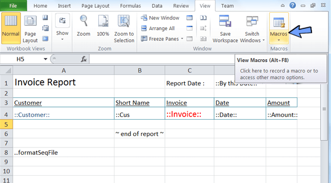 you can use macro together to generate the excel report