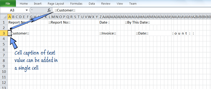 adding text field on the fixed width spreadsheet.