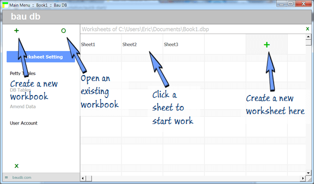 create a new workbook and a new worksheet
