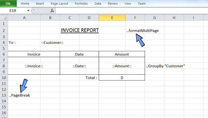 add the report style and format the layout of the report