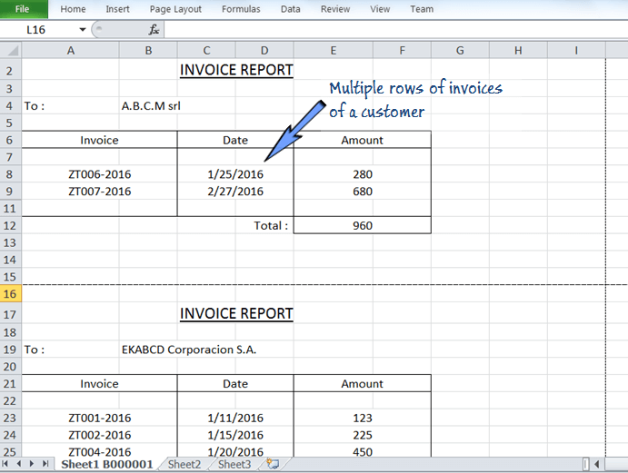 how to break one page into multiple print pages excel