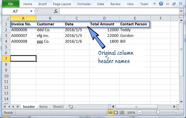 invoice record in spreadsheet