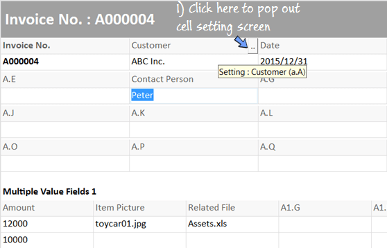 change caption in the field setting page
